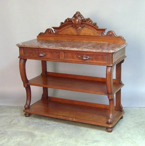 Victorian marble top server, 19th c., 50 1/2