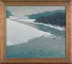David Hahn (American, 20th c.), acrylic on canvasa