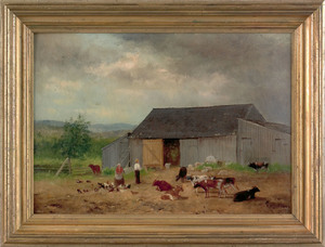 Newbold Hough Trotter (American, 1827-1898), oil o