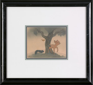 Disney production cel from Bambi, 5 3/4