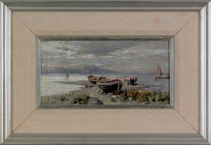 Giuseppe Carelli (Italian, 1858-1921), oil on boar