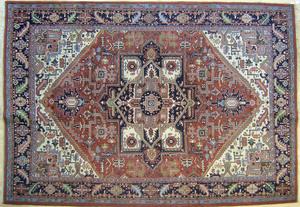 Roomsize Heriz rug, 12' x 9'2