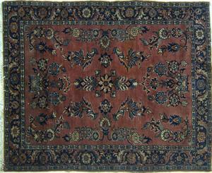 Sarouk throw rug, ca. 1920, 6' 4