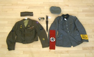German WWII uniform with dagger together with a U.