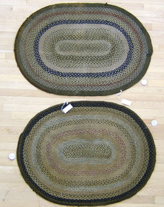 Two braided mats, 2'10