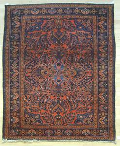 Three oriental throw rugs, 8'6
