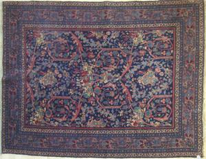 Kashan throw rug, 6'5