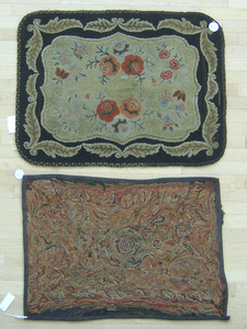 Two American hooked rugs, early 20th c., 31