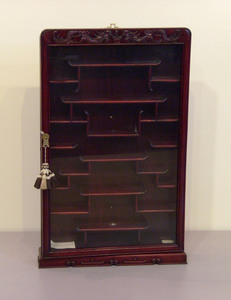 Chinese hanging display cabinet, 20th c., 33
