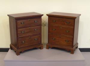 Pair mahogany bachelor's chests, 27