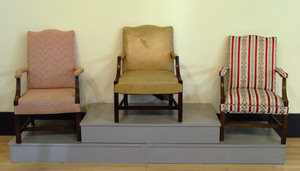 Three Federal style lolling chairs.