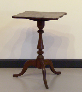 Cherry candlestand, 19th c., 24