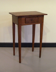 Pine one drawer stand, 19th c., 28