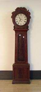 Classical style mahogany tall case clock, mid 19th