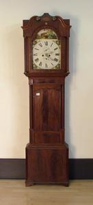 English mahogany tall case clock, early 19th c., w