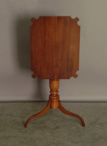 Cherry candlestand, 19th c., 28 1/4