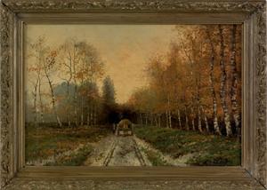 Louis Apol (Dutch, 1850-1936), oil on canvas woode