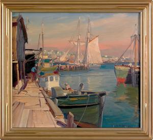 Emile Albert Gruppe (American, 1896-1978), oil ona