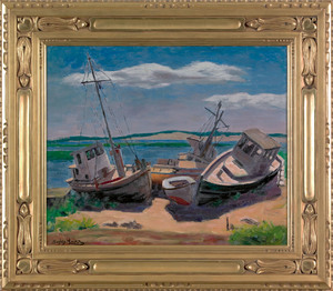Hayley Lever (American, 1876-1958), oil on board c