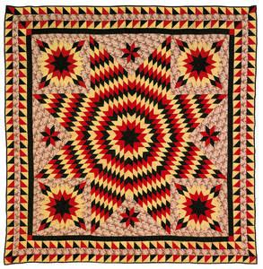 Applique Bethlehem star quilt, early 20th c., with