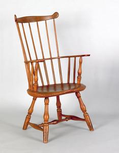 Pennsylvania painted combback windsor armchair, ca