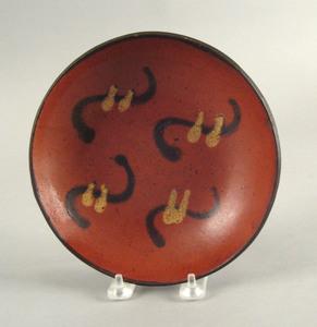 Berks County, Pennsylvania redware pie plate, 19th