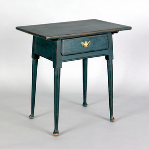 Pennsylvania Queen Anne painted pine tavern table,