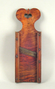 Pennsylvania tiger maple slaw board, 19th c., with