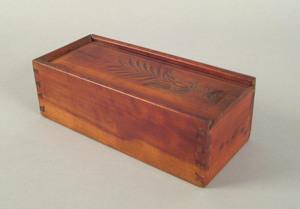 Pennsylvania cherry candlebox, 19th c., the slidei