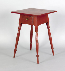 Pennsylvania walnut one drawer stand, ca. 1825, wi