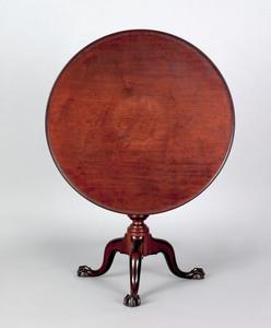 Pennsylvania Chippendale walnut tea table, ca. 177