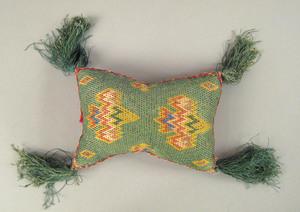 Pennsylvania silkwork pincushion, 18th/19th c., 4