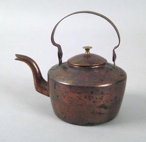 Pennsylvania miniature copper tea kettle, 19th c.,