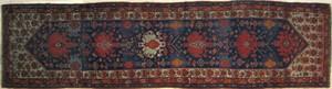 Hamadan long rug, ca. 1920, with 6 medallions on a