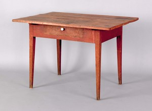 New England tavern table, 19th c., with a single d