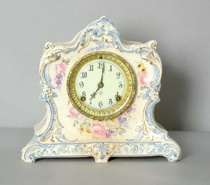 Ansonia mantle clock with Royal Bonn