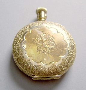 Elgin 14K gold ladies pocket watch inscribed Jenni