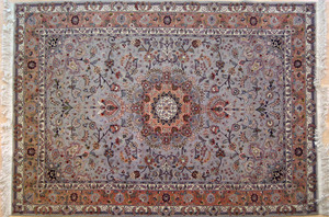 Two Contemporary oriental rugs, 9' x 6' and 6'7