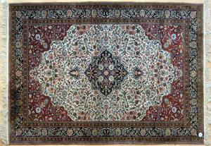 Three Contemporary oriental throw rugs, 8'2