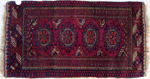 Two Turkomen mats, together with a Beluch mat, lar