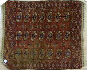 Turkoman mat, ca. 1900, 3'10