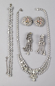 Weiss rhinestone necklace and bracelet, together w