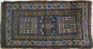 Kazak throw rug, ca. 1910, with 3 medallions and m