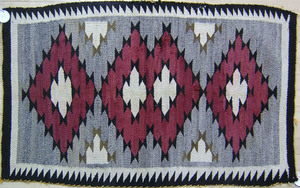 Arizona Red Mesa regional Navajo rug, early 20th c