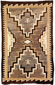 Navajo regional pictorial rug with 2 human figures