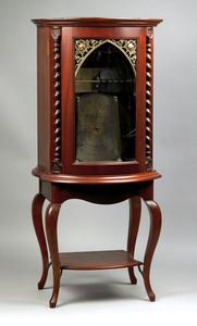 Regina upright music box, ca. 1900, the bowfront,l