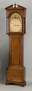 George III mahogany tall case clock, ca. 1800, the