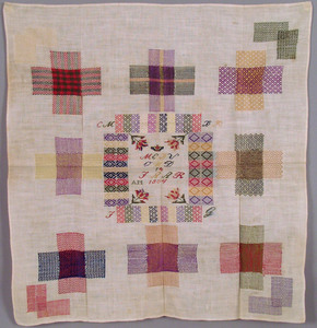 Two Dutch darning samplers dated 1804 and 1714, 20