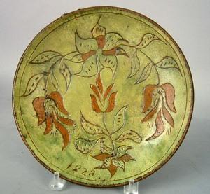 Southeastern Pennsylvania sgraffito decorated redw