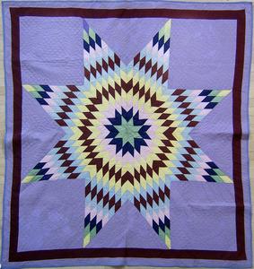 Pieced Star of Bethlehem quilt, ca. 1900, 77